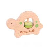 適用6個月以上 無毒玩具 德國EverEarth環保系成長木玩 木串手搖鈴-烏龜 彌月禮