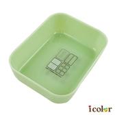 i color 仿陶瓷翡翠塑膠方型收納盒(大)