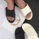 FINDSENSE品牌 韓國熱賣 簡約情侶黑白兩色 笑臉 居家 拖鞋