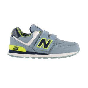 My Foot〔New Balance 〕紐巴倫 574系列 魔鬼氈 復古鞋 童鞋-銀灰X黑 KV574S7Y