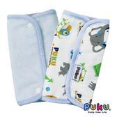 PUKU 藍色企鵝-揹帶口水墊/口水巾2入裝-印花藍 大樹