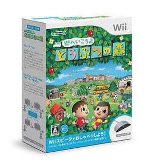 Wii遊戲 暢遊城市 動物之森 Wii麥克風同捆包 日版