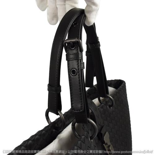 茱麗葉精品【全新現貨】BOTTEGA VENETA 297983 經典手工編織小羊皮肩背托特包.黑