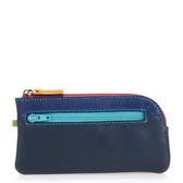 【mywalit】時尚繽紛皮革鑰匙包(亮彩黑藍)