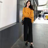 女秋冬休閒褲加厚寬腿百搭韓版直筒褲