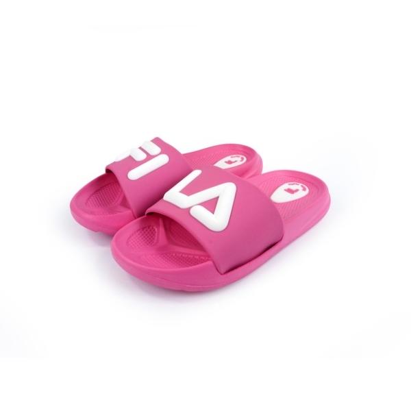 FILA 兒童輕量運動拖鞋S428U-551粉紅白(16~21cm)