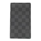 LOUIS VUITTON LV 路易威登 黑灰棋盤格迷你記事本封套 Pocket Agenda Cover R20975