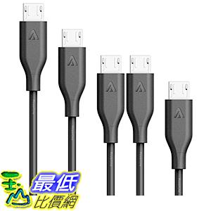 [106美國直購] Anker[5-Pack]PowerLine Micro USB - Charging Cable[Assorted Lengths]-Black 充電線 傳輸線