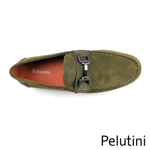 【Pelutini】金屬釦飾休閒鞋 墨綠(8338-DGRS)