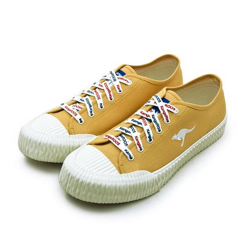 LIKA夢 KangaROOS 帆布厚底餅乾鞋 CRUST藍標系列 起司黃 91264 男