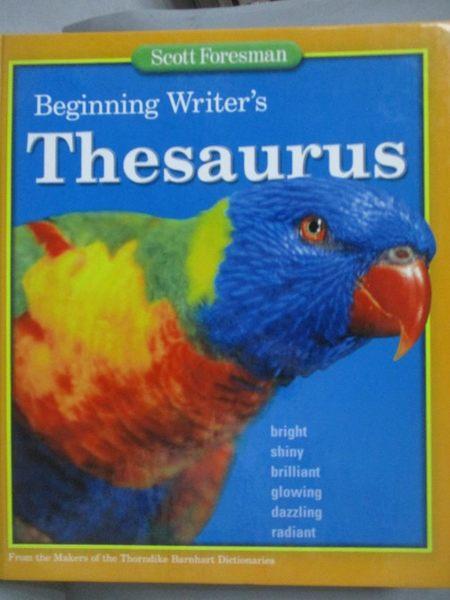 【書寶二手書T6/語言學習_XBK】Beginning Writer s Thesaurus_Scott Foresma