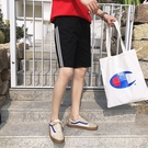 FINDSENSE H1 2018 夏季新款  潮男 條紋 休閒褲  百搭 短褲