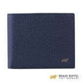 【南紡購物中心】BRAUN BUFFEL 莫瑞森-Ⅱ系列8卡低版皮夾 -藍色 BF345-313-NY