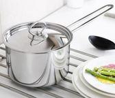 加厚不銹鋼奶鍋304不銹鋼奶鍋16cm煮牛奶鍋德國電磁爐通用     時尚教主