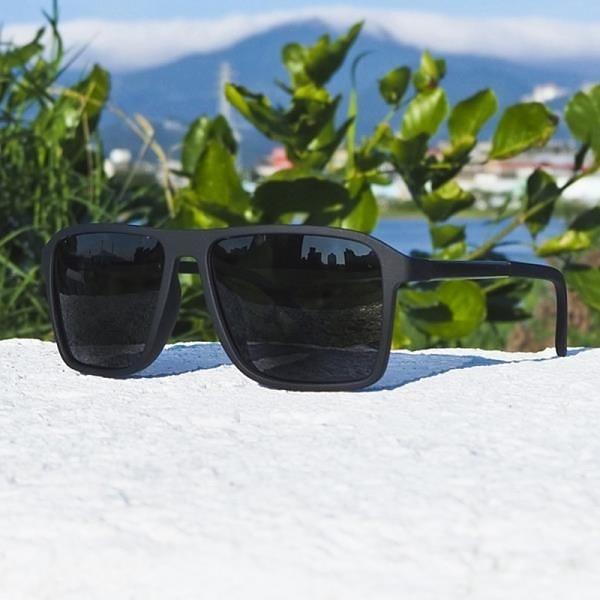 【南紡購物中心】2is EddyD 太陽眼鏡 偏光│百搭方框│黑框黑色鏡片│抗UV400