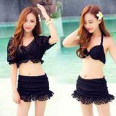 泳衣(三件式)-比基尼-優雅性感時尚蕾絲女泳裝-2色73mb16【時尚巴黎】