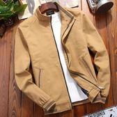 牛仔外套純棉秋季男士外套中年韓版潮流加絨男裝秋冬休閒牛仔夾克 曼慕衣櫃