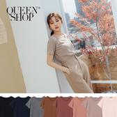 Queen Shop【01038228】簡約百搭素色柔棉舒適短袖棉T 八色售*現+預*