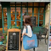 帆布袋 素色 字母 休閒 帆布袋 手提包 單肩包 購物袋--手提/單肩【SPE160】 icoca  08/29