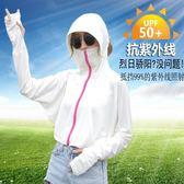 防曬披肩女夏季戶外開車騎車防紫外線抗UV連帽口罩一體薄款防曬衣 摩可美家
