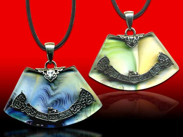鹿港窯~開運古法水晶琉璃銀飾項鍊~左右逢源 附精美包裝◆免運費送到家
