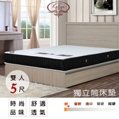 【UHO】Kailisi卡莉絲名床~ 黑色戀人時尚5尺雙人獨立筒床墊 免運