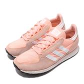 【海外限定】adidas 休閒鞋 Forest Grove W 橘 白 麂皮鞋面 復古 慢跑鞋 女鞋【PUMP306】 B37990