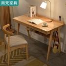 台灣現貨 書桌 實木書桌原木簡約現代家用白色學生學習桌台式電腦桌臥室北歐書桌