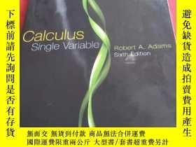 二手書博民逛書店calculus罕見single variable: rober