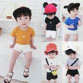 男女童韓版純色打底衫夏裝新款寶寶短袖T恤1234歲嬰幼兒上衣艾美時尚衣櫥