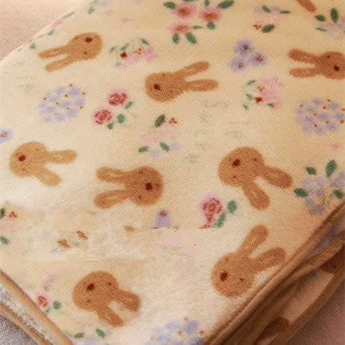 【發現。好貨】Le Sucre法國兔砂糖兔經典米黃空調毯 珊瑚絨200*200公分