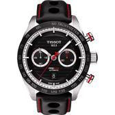 TISSOT 天梭 PRS516 系列計時機械手錶-黑/45mm T1004271605100