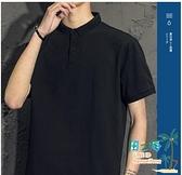 短袖Polo衫 短袖T恤男士潮流夏季潮牌男裝休閒翻領polo衫半袖上衣服【風之海】