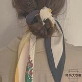韓版小花復古百搭裝飾職業長條小領巾氣質法式小絲巾女【時尚大衣櫥】