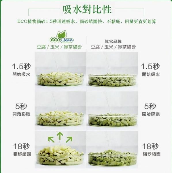 寵物家族-ECO艾可豆腐貓砂 (原味/綠茶/玉米/活性碳) 6L
