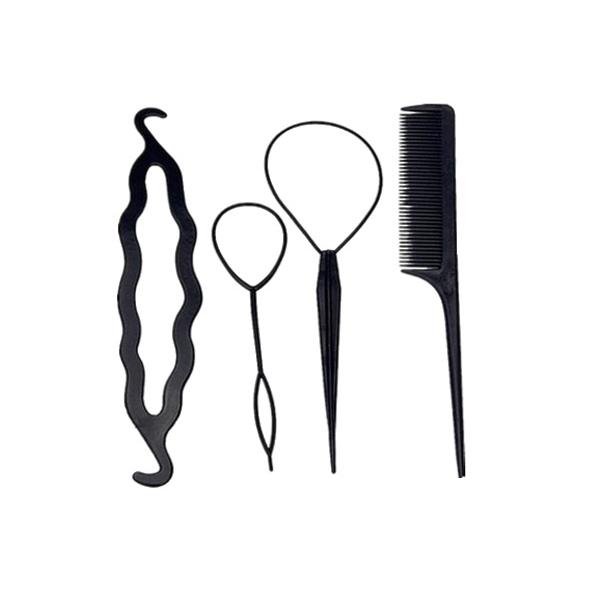 整髮必備工具四件組 【小三美日】顏色隨機出貨