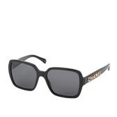 【CHANEL】方型造型墨鏡(黑色) CH5408 C622S4