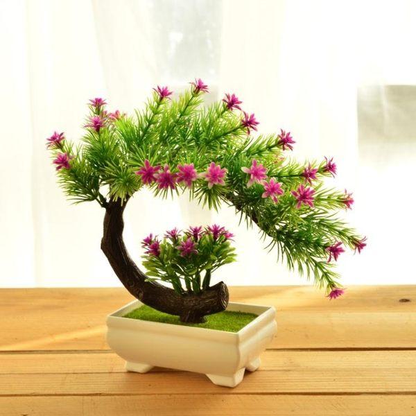 家居仿真花套裝 綠色植物盆 景假花盆栽 人造花