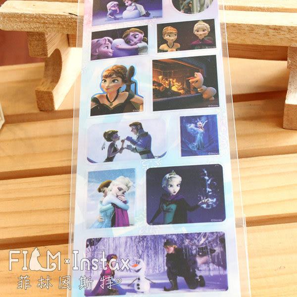 【菲林因斯特】日本進口  冰雪奇緣場景 艾莎 安娜 透明底貼紙 卡片  裝飾貼