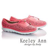 ★2016秋冬★Keeley Ann極簡步調~樂活運動風水鑽造型休閒鞋(桃紅色) -Ann系列