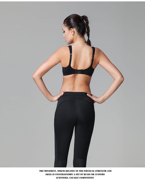 專業運動胸背心式透氣女內衣跑步 胸罩-1158700112