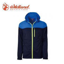 丹大戶外【Wildland】荒野 男RE彈性抗UV透氣輕薄外套 0A31992-72 深藍色