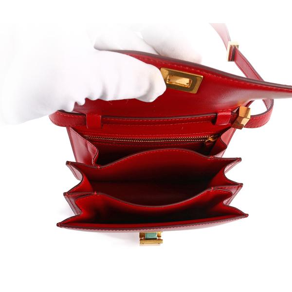 【CELINE】Classic Box 牛皮小型側背金釦(紅色) CE14000007