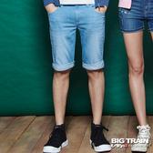 Big Train 海浪牛仔短褲-男-中藍-B5017474