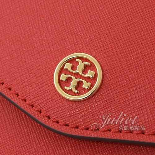 茱麗葉精品【全新現貨】TORY BURCH 49686 ROBINSON 防刮單肩手提兩用包.紅 小款