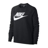 Nike NIKE AS W NSW [930906-010] 女 休閒 長袖 上衣 純棉 大學T 舒適 刷毛 黑