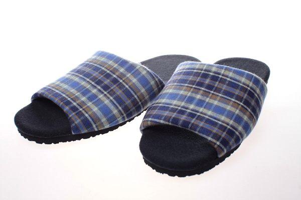 經典格紋天鵝絨室內拖鞋