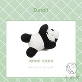男女掛件配飾熊貓胸針可愛日系掛飾玩偶裝飾別針毛絨公仔包包【小酒窝服饰】
