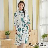 【Tiara Tiara】百貨同步 蒲公英印象長袖洋裝(白底/綠底) 預購