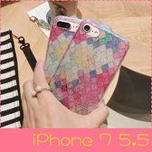 【萌萌噠】iPhone 7 Plus (5.5吋)  韓國閃粉Bring閃粉美人魚鱗片保護殼 全包矽膠軟殼 手機殼 手機套